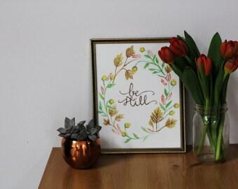 be still//floral