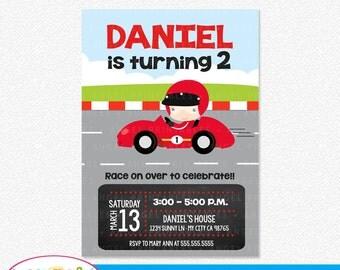 Race car Printable Invitation