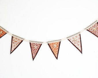 Homemade Fall Bunting