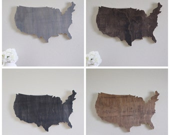 Wood USA Stained Cutout Home Wall Decor