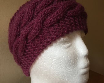 Hand knitted headband in various colours - made to order