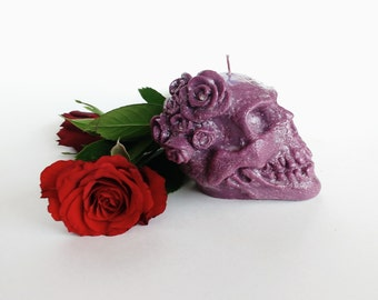 Skull candle Decorative candle Gothic candle Gift for him Handmade candle Home decor
