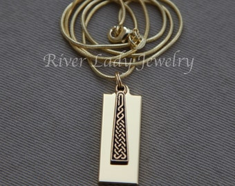 Celtic Braid 8GB, 16GB or 32GB USB Drive Necklace with Gold Plated Chain