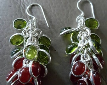 Peridot and Garnet Earrings!