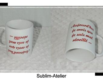 Mug, cup coffee or tea for the evil awakened