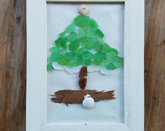 Miraculous Sea Glass Christmas Tree Etsy Easy Diy Christmas Decorations Tissureus