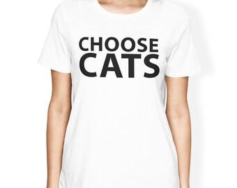 Choose Cats Cotton Tee