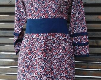 Wax cotton dress