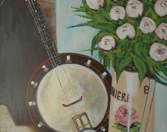 Banjo Mandolin-a print ready to frame.
