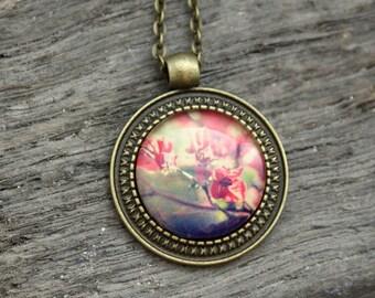 """Vintage necklace bronze """"Cornfield"""" 70 cm"""