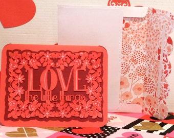 Valentine's Day card, Greeting card, Blank card, Love