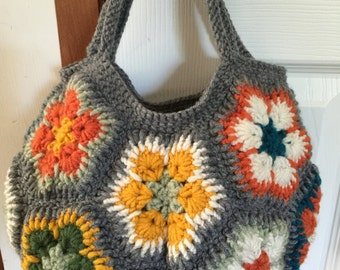 Star Flower Crochet Tote-Made to Order
