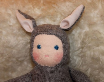 Bunny Baby, Easter bunny doll, Waldorf Easter bunny toy