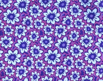 Free Spirit Fabric Luella Doss Hotflash Passion Flower LD09 Fuchsia