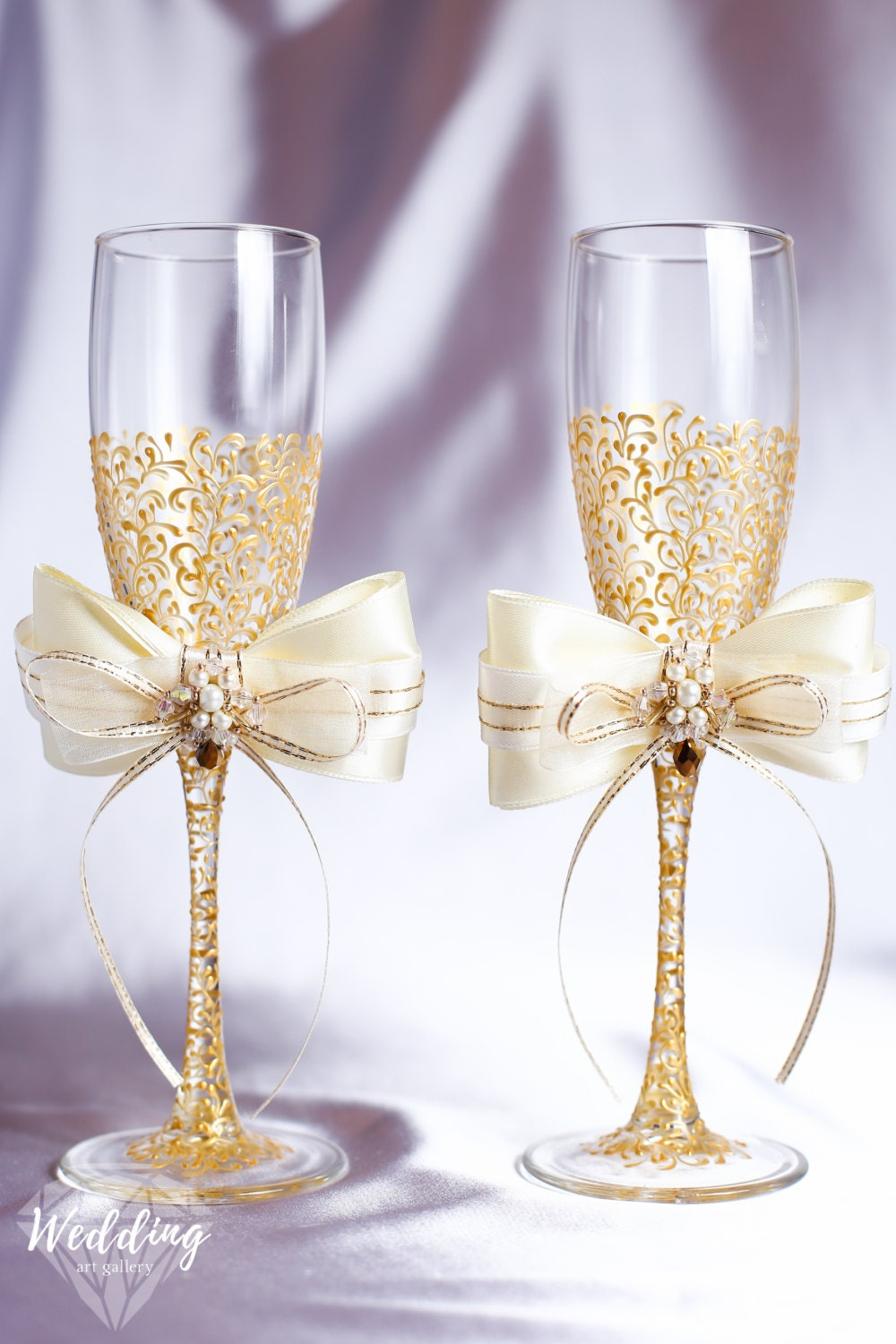 personalized wedding flutes wedding champagne glasses