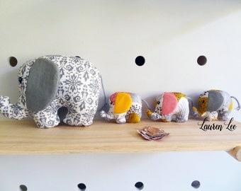 ITH Eliza Elephant Embroidery Digital Design Files (4x4, 5x7, 6x10)