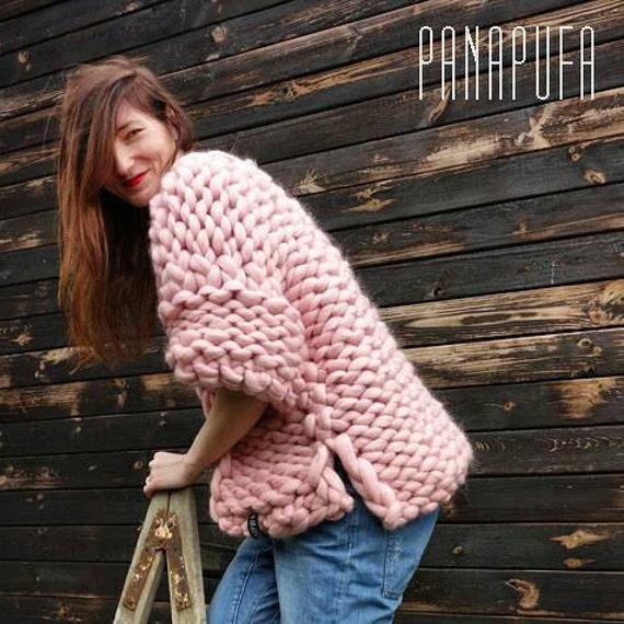 Chunky Knit Sweater chunky yarn cardigan Super Chunky yarn