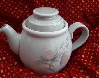 Denby Whispers Teapot, English Pottery Tea pot, Denby ware. Vintage Pottery, Retro Mid Century Pottery