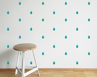 Raindrop wall stickers - Various Colours - Wall stickers - Set of 46