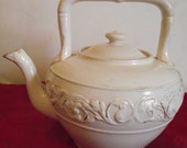 Antique Pottery Tea Kettle.