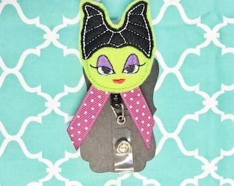 Villain girl badge holder great for nurses or teachers!