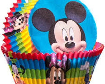 Mickey Mouse cupcake liners/50 CTN