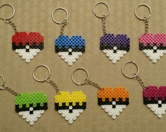 Pokemon Heart keychains - Party favors - Set of 8