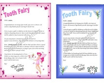 Tooth Fairy Letter Child Boy Girl Toddler Personalised Personalized Downloadable Post to your Door