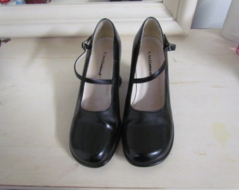 Black Vintage 90s Heels Size 8