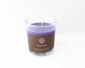 Violet Lime Scented Candle 13 oz Straight tumbler Jar