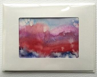 Original Watercolor Card - 068