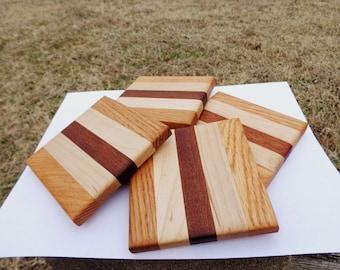 Striped Wood Coasters