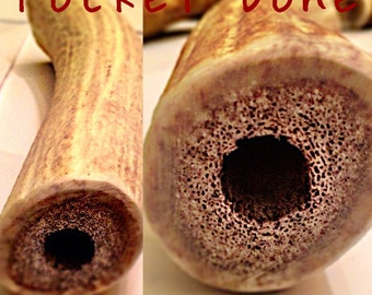 Pocket bones elk antler dog chew-stuff with your dogs favorite treats!-free shipping!