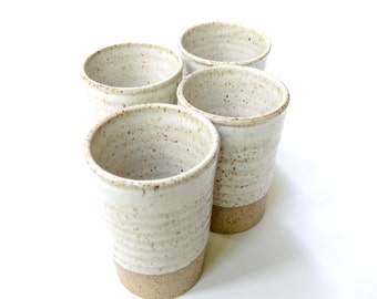 MADE TO ORDER - Set of 4 small tumblers - ceramic juice glasses