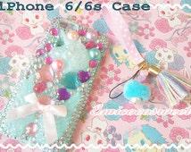 Unicorn Resin Phonce case,Decoden Phone case,iPhone6 6s,Unicorn Resin Phone Case,iPhone,Decoden Case,Kawaii Phone Case,Kawaii Unicorn Case