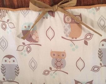Owl bumper pads.