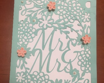 Mr & Mrs Ornate Wedding Card