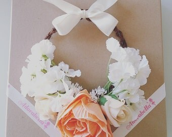Apricot Peony Flower Crown