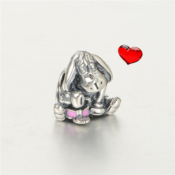 authentic pandora disney eeyore charm pink by
