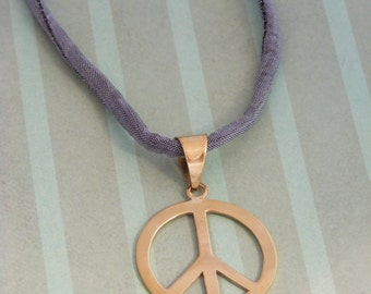 Recycled bomb Jewellery -Peace Sign Pendant -Fairtrade handmade