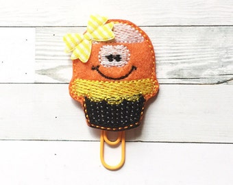 Candy Corn Cupcake Planner Clip - Paper Clip - Holiday Planner Accessories - Halloween - Autumn - Small Gift