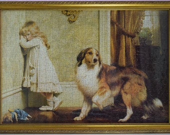 BEAUTIFUL Vintage Jigsaw Of The Charles Burton Barber Painting 'A Special Pleader' - 54cm x 38cm (21'' x 15'')