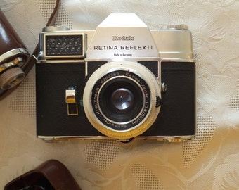 Kodak Retina Reflex III + Telephoto Lens and other Accessories
