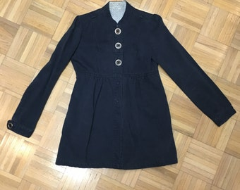 Vintage 70s Jacket Navy size Small
