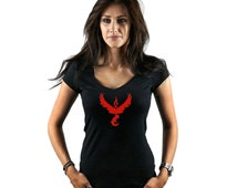 DECAL SERPENT (CS-001PG) Pokemon Go Inspired Team Valor Womens T-Shirt