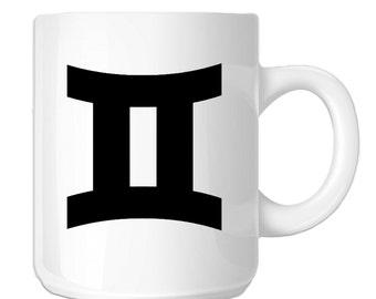 Zodiac Sign Gemini Silhouette (SP-00803) 11 OZ Novelty Coffee Mug