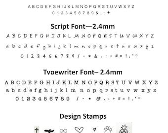 Custom hand stamping