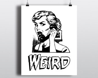 Digital Download Pulp Art, Classic Horror Movie Poster, Retro Film Print, 8x10 Printable Wall Art, Vintage Pulp Fiction Illustration