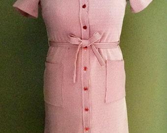 "Vintage 1960's ""Candy Striper"" Dress"