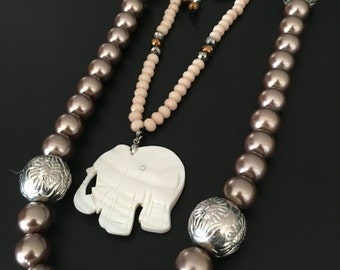 Beads and Swarovskis Necklaces!